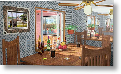 Kitchen Metal Print featuring the photograph Smoke And Mirrors by Peter J Sucy