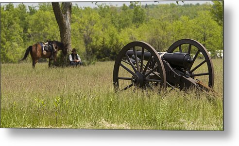 Cannon Metal Print featuring the photograph Solitude Before War by Chad Davis