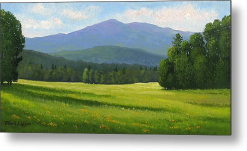 Landscape Metal Print featuring the painting Spring Vista by Frank Wilson