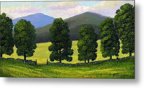 Landscape Metal Print featuring the painting Stonewall Field by Frank Wilson