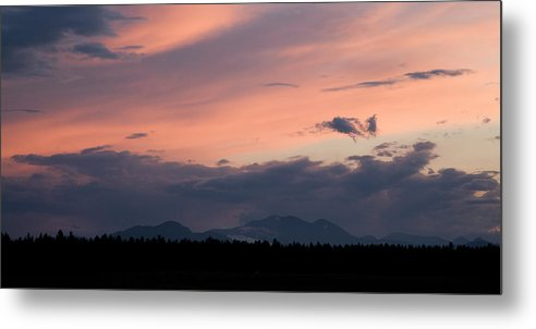 Brnik Metal Print featuring the photograph Sunset Over The Kamnik Alps by Ian Middleton