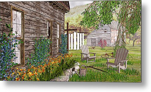 Adirondack Chair Metal Print featuring the photograph The Chicken Coop by Peter J Sucy
