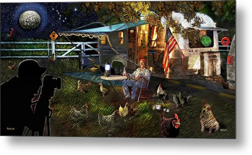 Roger Ruhlin Metal Print featuring the painting The Roger Painting by Robert Pratt