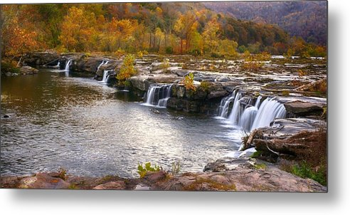 Ann Keisling Metal Print featuring the photograph The Waterfalls by Ann Keisling