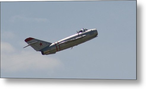 Airplane Metal Print featuring the photograph Wafb 09 Mig 17 Russian 4 by David Dunham