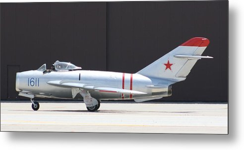 Airplane Metal Print featuring the photograph Wafb 09 Mig 17 Russian by David Dunham