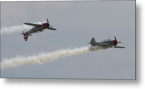 Air Metal Print featuring the photograph Wafb 09 Yak 52 Aerostar 6 by David Dunham