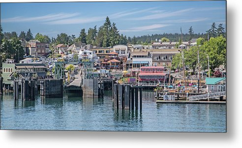 Friday Metal Print featuring the photograph Welcome To Friday Harbor San Juan Island by Betsy Knapp