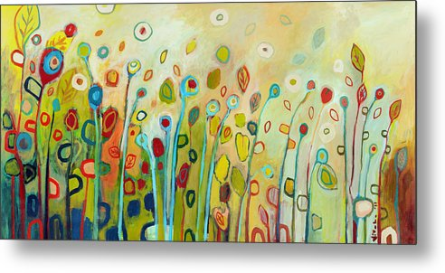Floral Metal Print featuring the painting Within by Jennifer Lommers