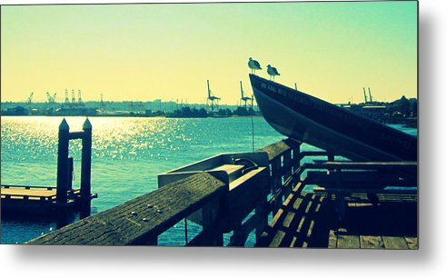 Boat Metal Print featuring the photograph Boat At Alki Beach by Kazumi Whitemoon