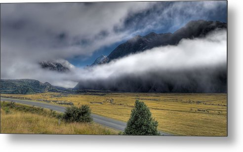 New Zealand Metal Print featuring the photograph Cook Hiding by Arnie Arnold