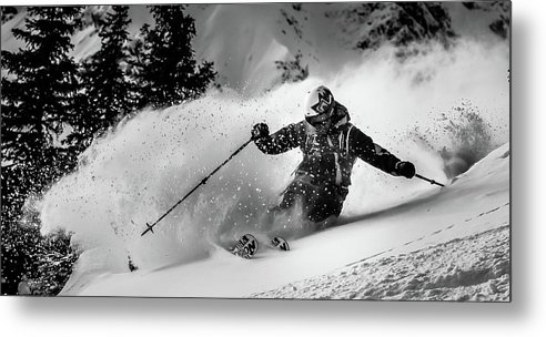 Mountain Metal Print featuring the photograph First Tracks.... by Eric Verbiest