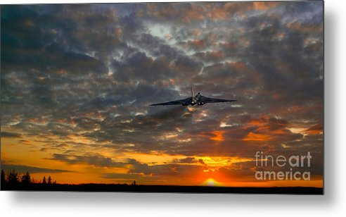 Vulcan Bomber Scramble Metal Print featuring the digital art Off To War by J Biggadike