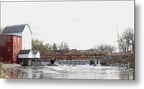 Mill Metal Print featuring the photograph Phelps Mill by Lori Tordsen