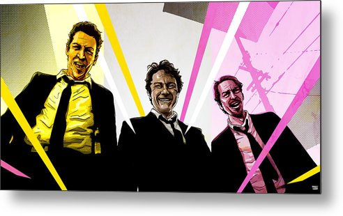 Digital Metal Print featuring the digital art Reservoir Dogs by Jeremy Scott