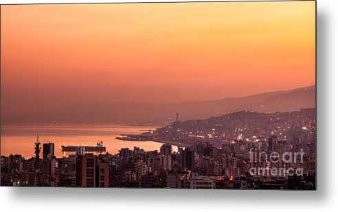 Bay Metal Print featuring the photograph Sunset On Mountain City by Anna Om