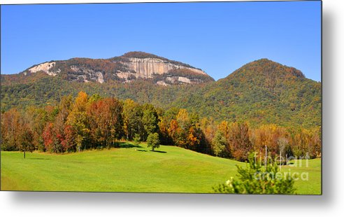 South Carolina Metal Print featuring the photograph Table Rock In Autumn by Lydia Holly