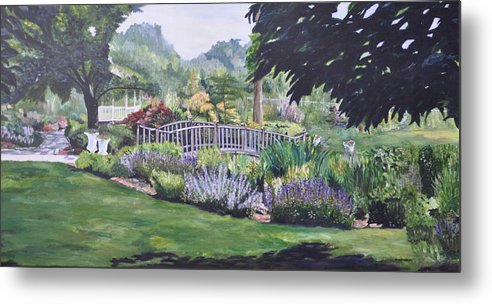 Queens Metal Print featuring the painting The Wedding Bridge by Dottie Branchreeves