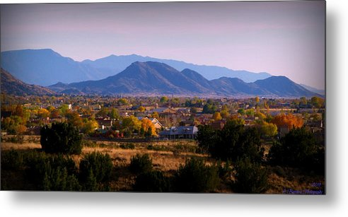 Albuquerque Metal Print featuring the photograph Autumn In The Foothills by Aaron Burrows