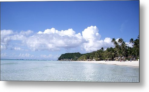 Metal Print featuring the photograph Beautiful Beach by Cristie Rieland