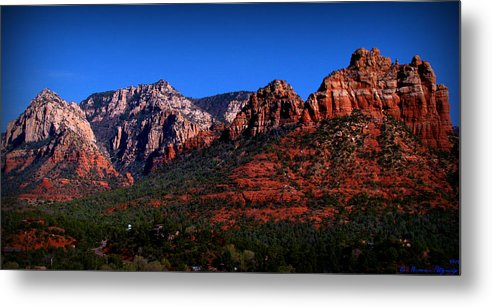 Sedona Metal Print featuring the photograph East Sedona Colors by Aaron Burrows