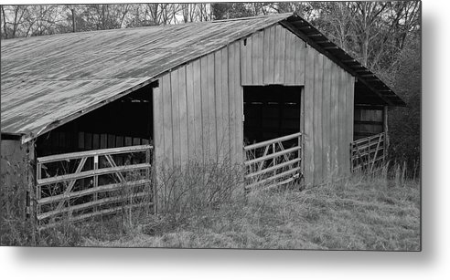 Farm Metal Print featuring the photograph Hay Barn In The Back 40 by Jim and Kim Shivers