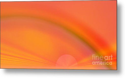 Abstract Metal Print featuring the digital art Rainbow by Odon Czintos