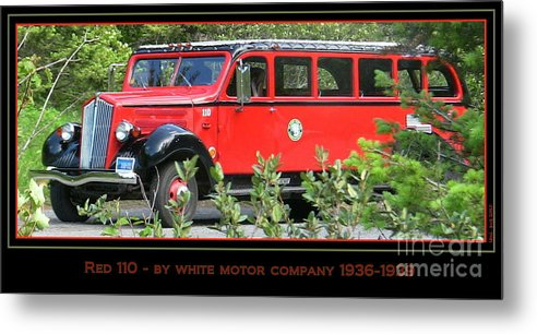 Red Metal Print featuring the photograph Red Bus 110 by Lani PVG  Richmond