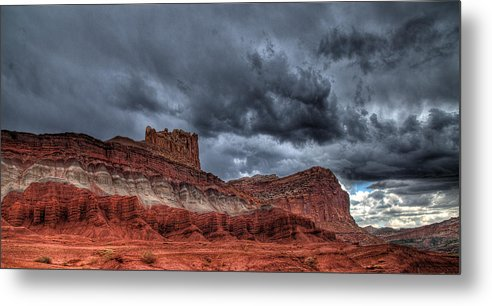Utah Metal Print featuring the photograph Thunder Above by David M Lynnes