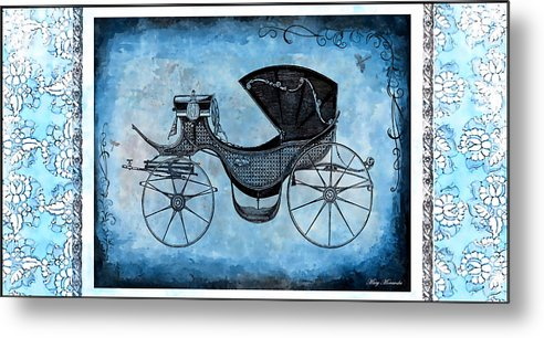 Victorian Metal Print featuring the mixed media Victorian Coach by Mary Morawska