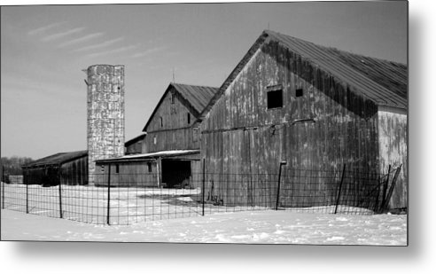Barn Metal Print featuring the photograph 020309-74 by Mike Davis