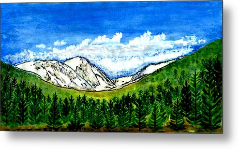 Colorado Metal Print featuring the digital art jGibney Breckenridge CO 1999art300dpi18-9M jGibney by The MUSEUM Artist Series jGibney