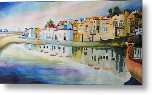 Capitola Metal Print featuring the painting Capitola by Karen Stark