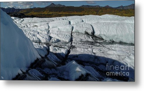 Glacier Metal Print featuring the photograph Gacier Contrasts by Ron Bissett