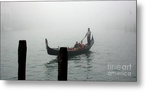 Italy Metal Print featuring the photograph Gondola In The Fog by Michael Henderson