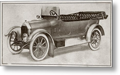 Auto Metal Print featuring the drawing Humber 14 Hp Model Of 1914. From La by Vintage Design Pics