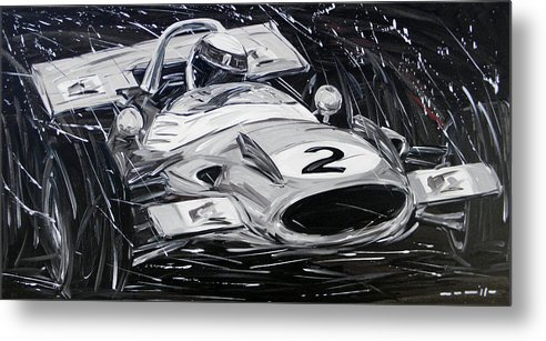 Cars Metal Print featuring the painting Matra Stewart by Roberto Muccilo