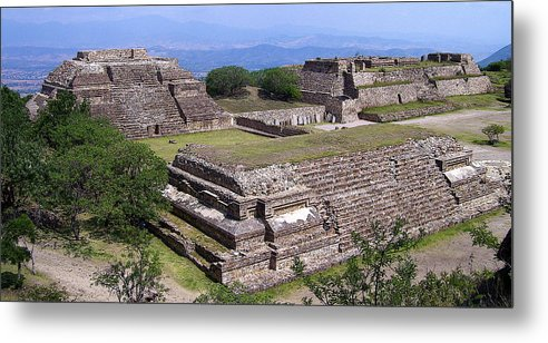 Monte Alban Metal Print featuring the photograph Monte Alban by Michael Peychich