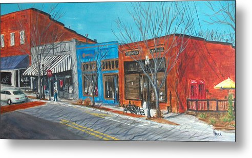 Townscape Metal Print featuring the painting Paintin The Town by Pete Maier