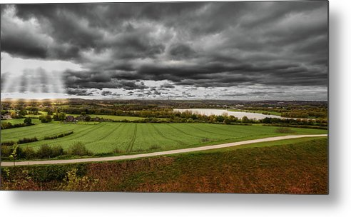 Wakefield Metal Print featuring the photograph Panorama Of Wakefield's Fields by Robert Chlopas