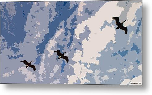 Nature Metal Print featuring the photograph Pelican by Jefferson Hobbs
