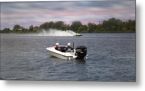 Taree Race Boats Metal Print featuring the photograph Taree Race Boats 2015 07 by Kevin Chippindall
