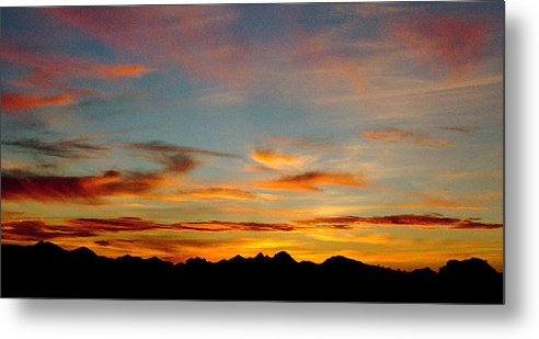 Arizona Sunset Metal Print featuring the photograph Usery Sunset by Randy Oberg