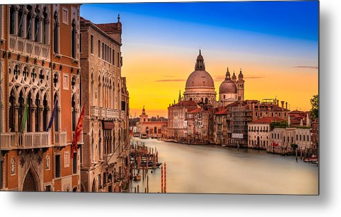 Canal Metal Print featuring the photograph Classic Venice by Jakob Noc