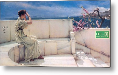 Classic Art With A Change Metal Print featuring the digital art Expectations by Lawrence Alma Tadema