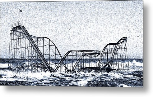Superstorm Sandy Metal Print featuring the photograph Jetstar 2012 by Tina McGinley