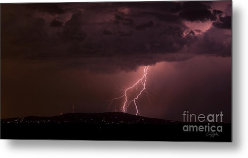 Lightning Metal Print featuring the photograph T- Rex by Craig Dykstra
