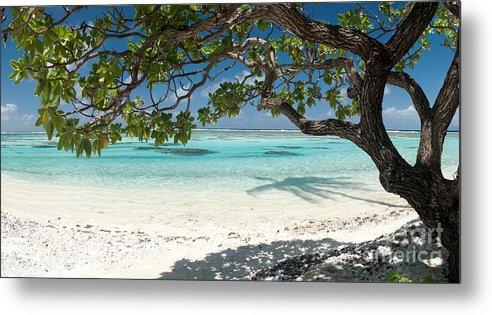 Metal Print featuring the photograph Tahitian Paradise by Jim Chamberlain