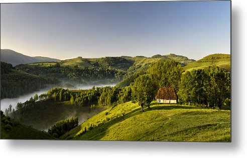 Morning Metal Print featuring the photograph Yesterday Morning by Claudiu Guraliuc