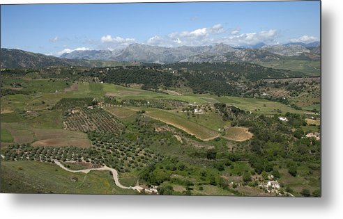 White Village Metal Print featuring the photograph countryside in Spain by Perry Van Munster